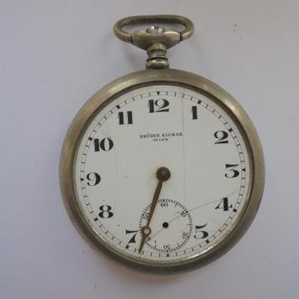 Старинные карманные часы BRUDER KLUMAK WIEN. 20-30-е годы  (№8).