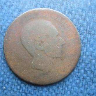 монета 10 сентимо Испания 1877-1879 как есть №2