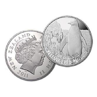 5 долларов Новая Зеландия 2011 Penguin
