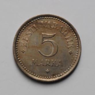 Эстония 5 марок 1922 г., XF, '1ая Республика (Марка) (1922-1927)'