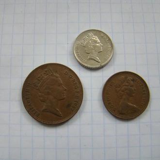 1, 2, 5 пенсов (см. описание), Великобритания.