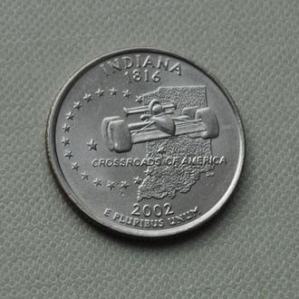 25 центов США Индиана 2002 г.