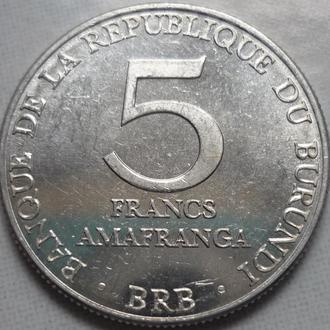 Бурунди 5 франков 1980