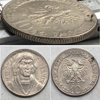 Польша 10 злотых, 1965 г. Николай Коперник