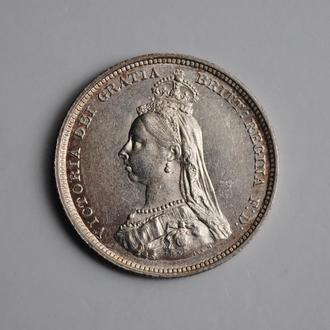 Великобритания 1 шиллинг 1887 г., UNC, 'Королева Виктория (1838 - 1901)'