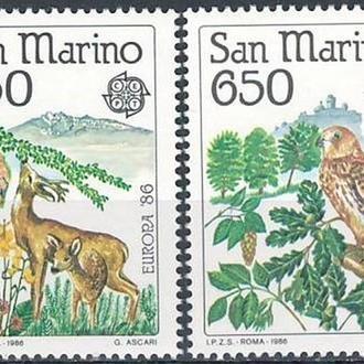 фауна Сан-Марино-1986 охрана природы, вып.ЕВРОПА (кц 25е)