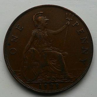 Англия 1 пенни 1929 год