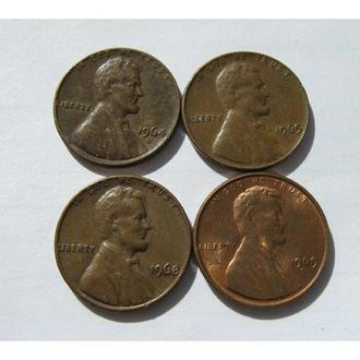 1 ЦЕНТ США 1964 1965 1968 1969