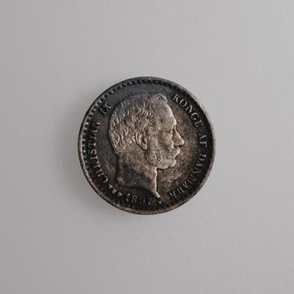 """Дания 10 эре 1897 г. VBP, VF, """"Король Кристиан IX (1873 - 1906)"""""""