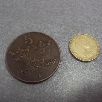 монета швеция 5 эре 1938 №1143