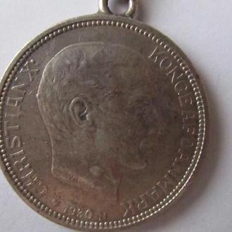 монета Дания 2 кроны 1930г