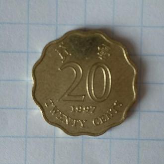 Гонконг 20 центов