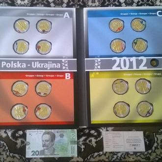 Колекция Жетонов / Медалей посвященных чемпионат Европы ЕВРО-2012 ФУТБОЛ в спец альбом
