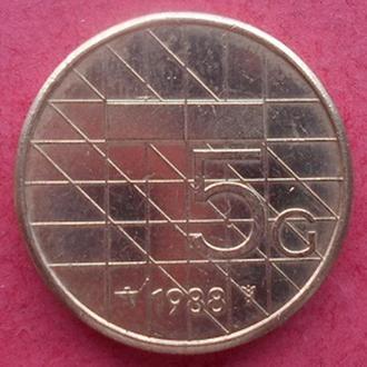 Нидерланды 5 гульденов, 1988 год.