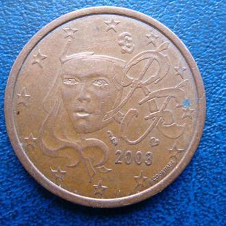 Италия 5 центов 2003