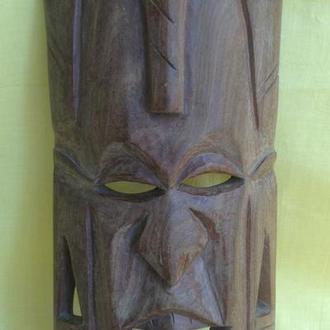 Маска деревянная *Весёлый вождь*. Африка.  Мозамбик.
