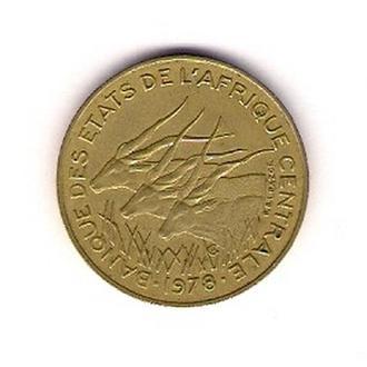 10 франков 1978 г. , Центрально-Африканская республика