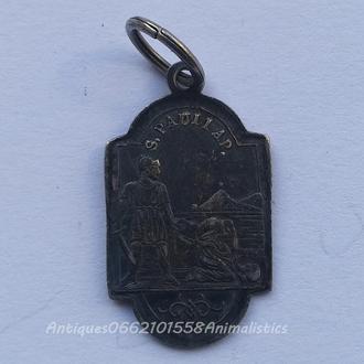 Серебро икона Отсечение головы Апостолу Павлу религия святой XIX век