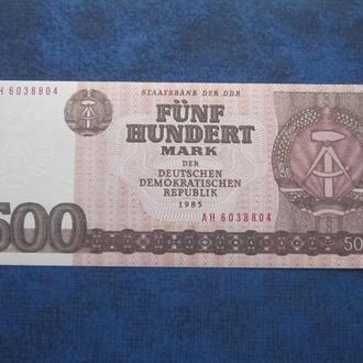 Банкнота 500 марок ГДР Германия 1985 UNC пресс