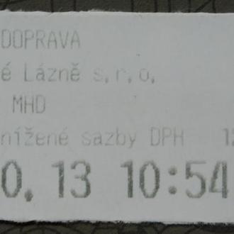 Талон Билет Чехия #1