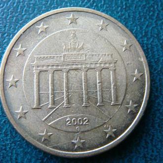 Германия 50 центов 2002 G