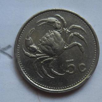 МАЛЬТА. 5 центов 1986 года (КРАБ).