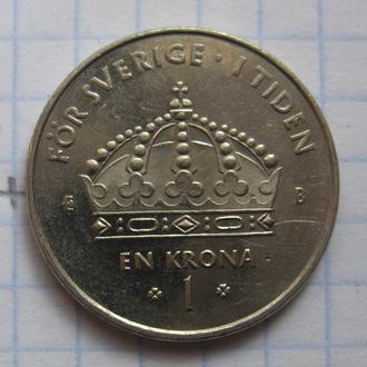 ШВЕЦИЯ, 1 крона 2002 года.