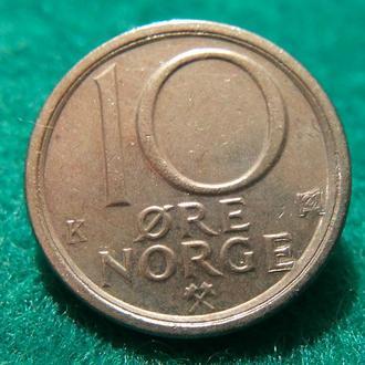 Норвегия 10 эре 1985