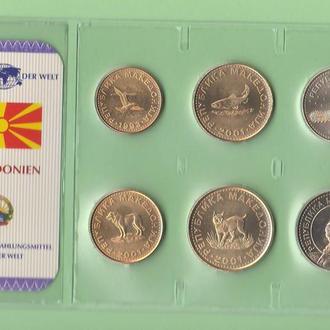 Набор монет МАКЕДОНИЯ запайка набір МАКЕДОНІЯ пластик из серии DAS GELD DER WELT