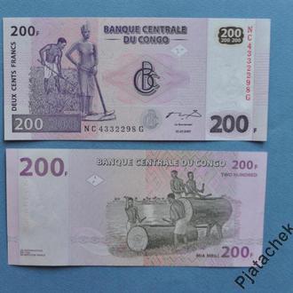 Конго 200 Франков 2007 UNC