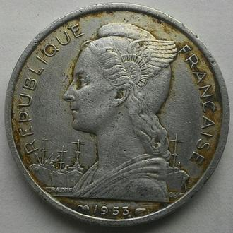МАДАГАСКАР 5 франков 1953 год СОХРАН!!!