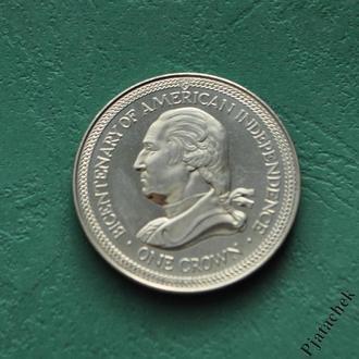 Остров Мэн 1 Крона 1976 г Независимость Америки №2
