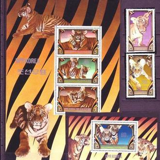 фауна КНДР-1982 тигры, полный комплект (кц 34е)