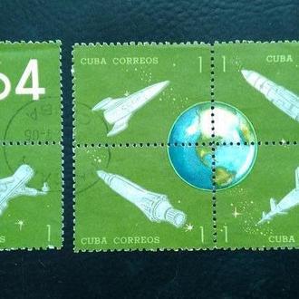 почтовая марка Космос  Куба 1964   2