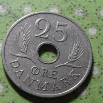 Дания 1967 год монета 25 эре !
