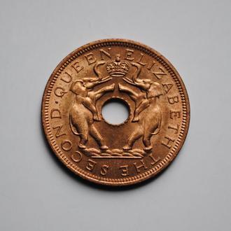 Родезия и Ньясаленд 1 пенни 1958 г., UNC, 'Центрально-Африканская Федерация (1955 - 1964)'