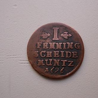 1 пфеннинг 1696 германия