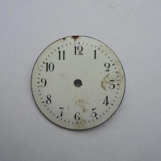 Циферблат старинных карманных часов емаль 25мм. (№142).