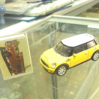 машинка welly mini cooper s №9481