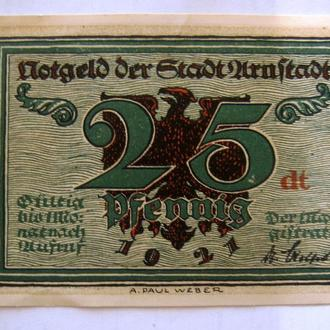 ГЕРМАНИЯ, 25 пфеннигов 1921 г., НОТГЕЛЬД.