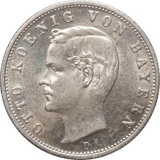 """Бавария 2 марки 1904 г., UNC, """"Король Отто І (1886 - 1913)"""""""