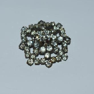 красивая брошь с камнями металл винтаж отличное состояние
