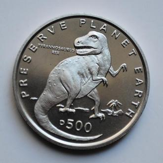 Босния и Герцеговина 500 динаров 1993 г., UNC, 'Заповедник планета Земля - Тираннозавр рекс'