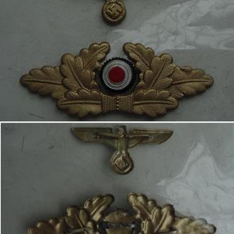 Комплект кокард на офицерскую фуражку./копия