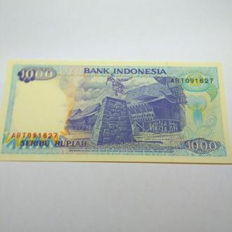 1000 рупий, 1992, Индонезия, пресс, unc, оригинал