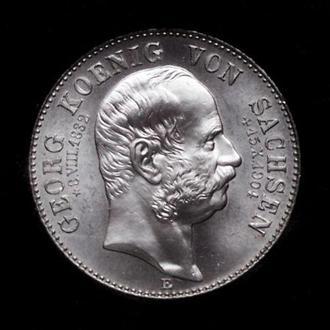 Саксония 2 марки 1904 г., UNC, 'Смерть Георга Саксонского'