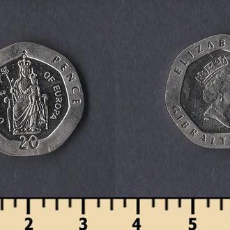 Гибралтар 20 пенсов 1988