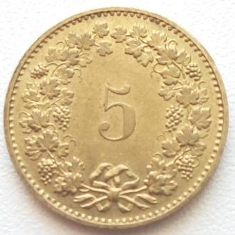 Швейцария 5 раппен, 1984