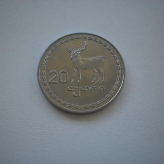 Фауна. Олень. Грузія Грузия монета Грузії 20 тетрі 1993 рік відмінний колекційний стан. Недорого.