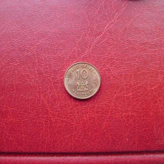 Кения 10 центов 1995 Редкая